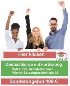 Deutschkurse A1, A2, B1, B2, C1, C2 in Wien mit Förderung